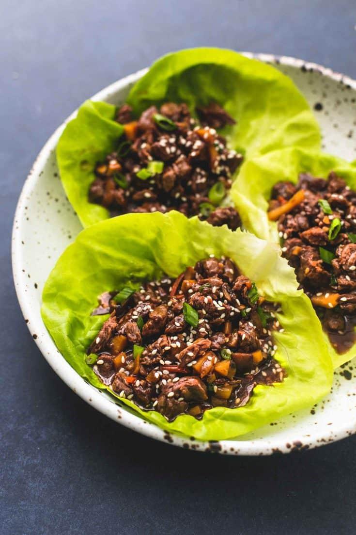 Honig-Rindfleisch-Salat-Wraps