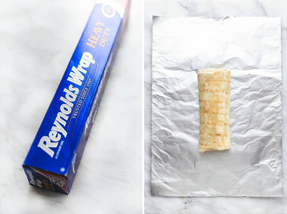 Einfach machen Ei und Wurst Gefrierschrank Frühstück Burritos Rezept | lecremedelacrumb.com