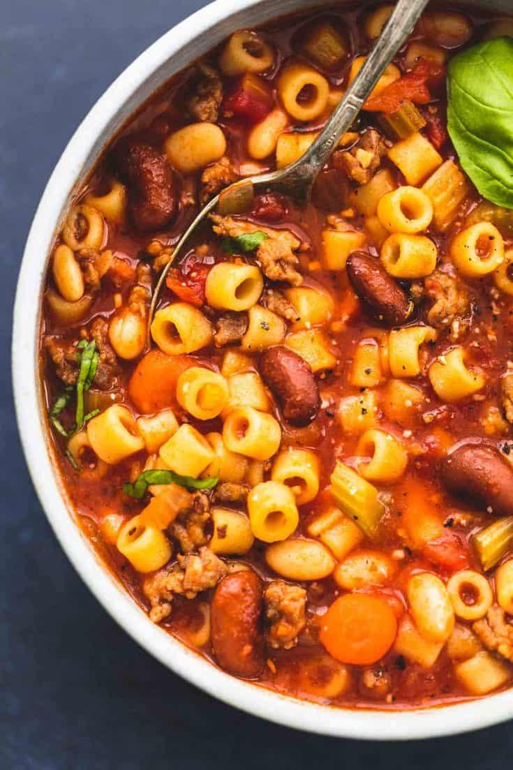 Instant Pot Pasta und Fagioli Suppe