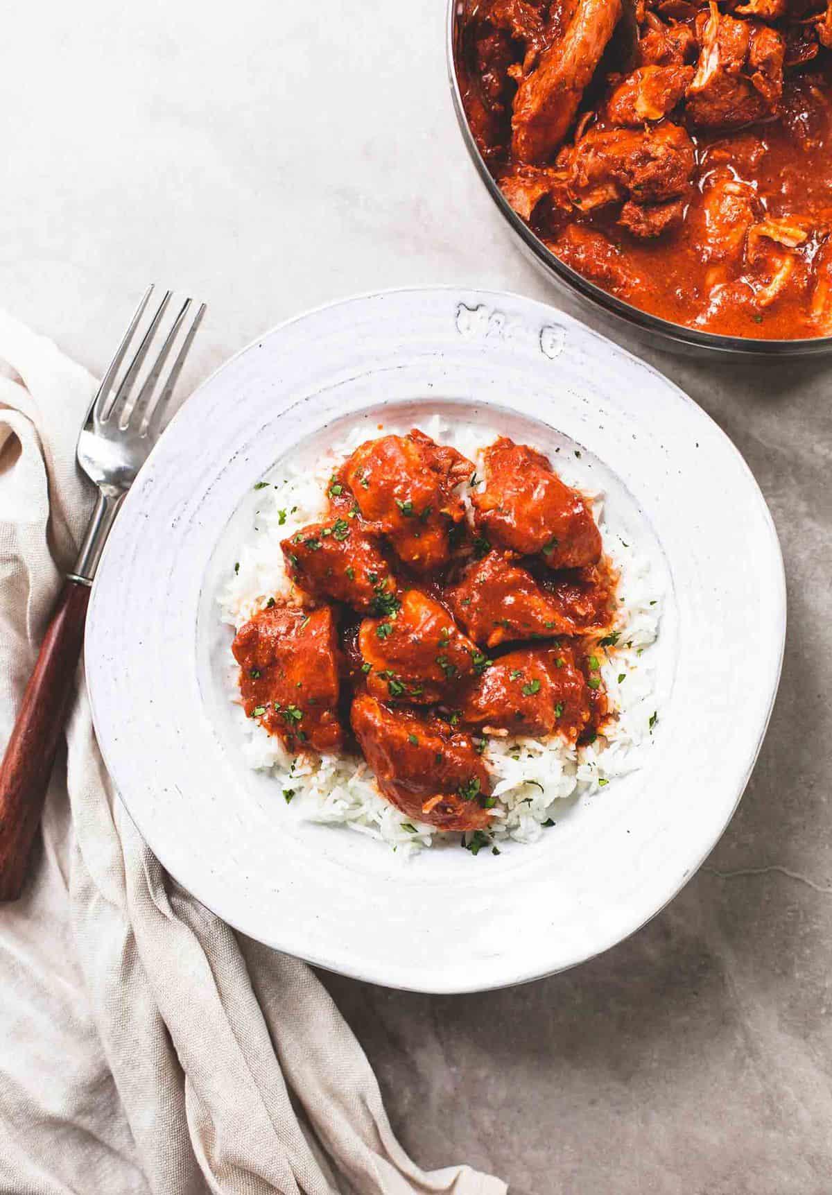 Instant Pot Huhn Tikka Masala einfaches Abendessen Rezept | lecremedelacrumb.com