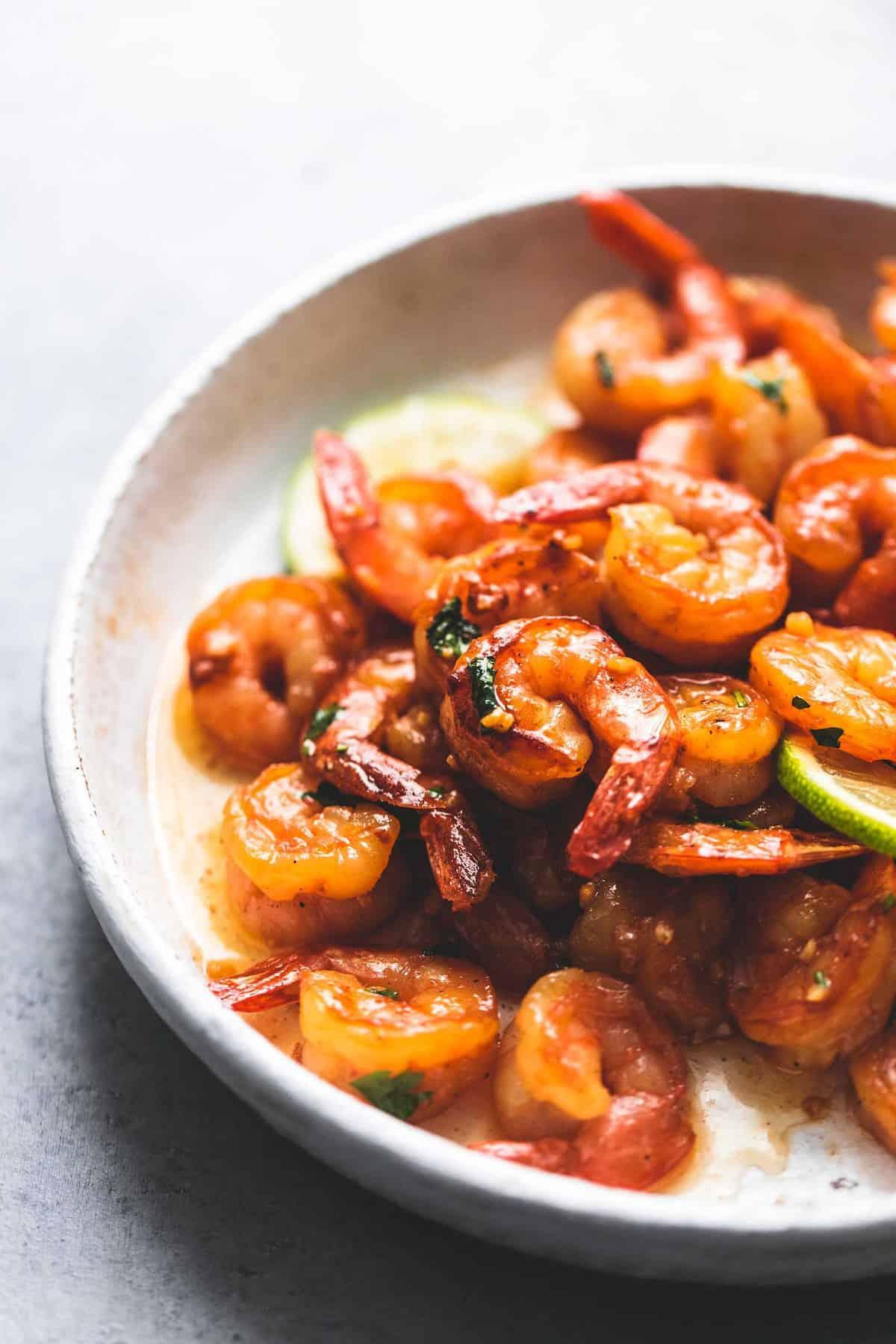 Honig Koriander Limette Garnelen einfaches Abendessen Rezept | lecremedelacrumb.com