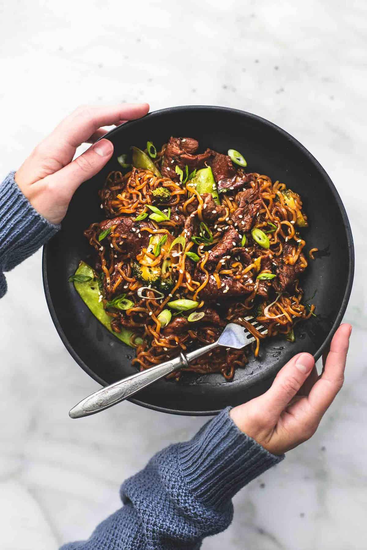 Teriyaki Steak Stir Fry einfaches Abendessen Rezept | lecremedelacrumb.com