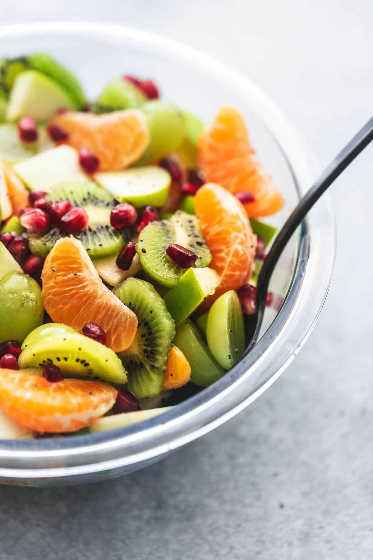 Easy Winter Fruit Salad recipe | lecremedelacrumb.com