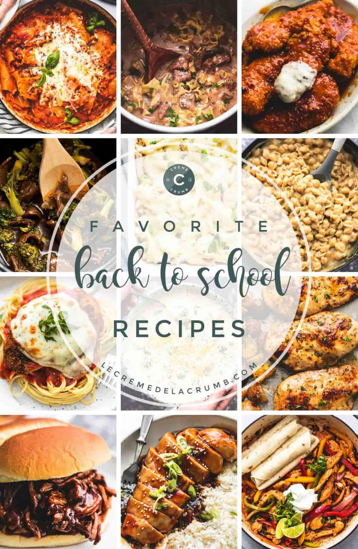 Einfache und familienfreundliche Back to School Rezepte | lecremedelacrumb.com