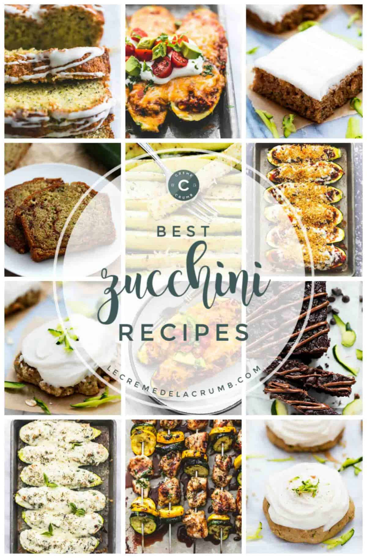 Easy Zucchini Recipes | lecremedelacrumb.com