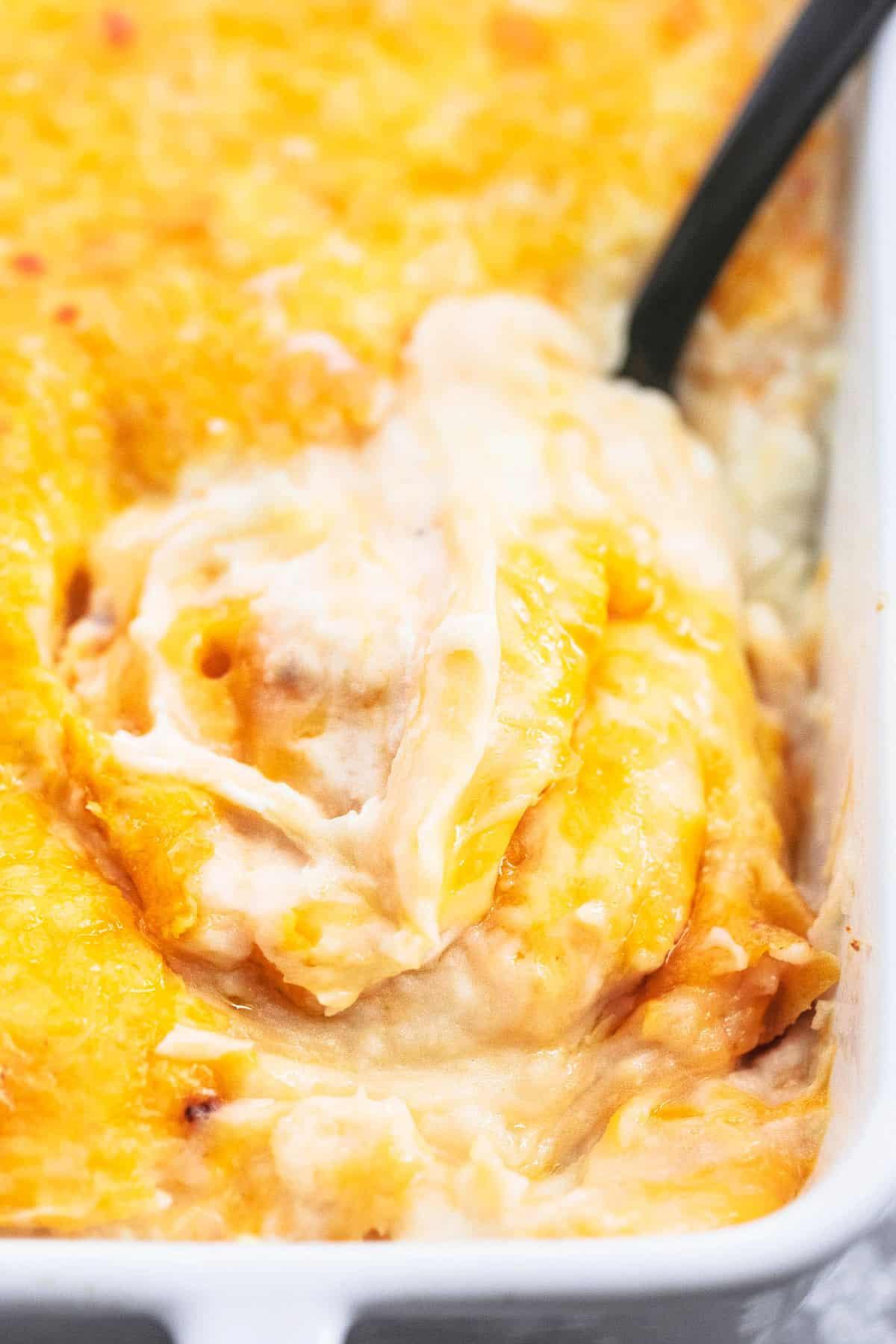 Easy Cheesy Kartoffelpüree Auflauf Beilage Rezept | lecremedelacrumb.com